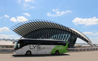 Arrêt des navettes Flixbus Chambéry – Lyon St Éxupéry